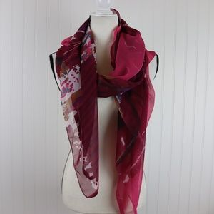 Bright Printed Sheer Scarf/Wrap